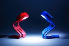 Twee lampen Stock Foto's
