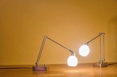 Twee lampen Royalty-vrije Stock Afbeeldingen