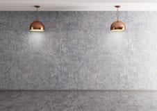 Twee lampen over het concrete muur 3d teruggeven vector illustratie