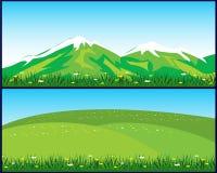 Twee landschappen Royalty-vrije Stock Afbeelding