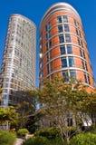 Twee lange gebouwen Stock Foto