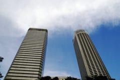 Twee lange gebouwen Stock Afbeelding