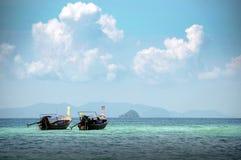 Twee lange staartboot Thailand Royalty-vrije Stock Afbeeldingen