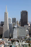 Twee Langste Gebouwen in San Francisco Stock Foto's