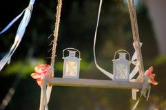 Twee lantaarns Royalty-vrije Stock Afbeeldingen