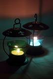 Twee lantaarns stock afbeeldingen