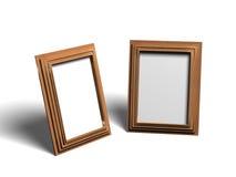 Twee Lege Frames Royalty-vrije Stock Afbeeldingen