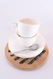Twee Lege koffiekop Stock Foto's