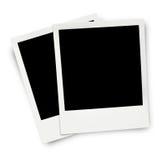 Twee lege oude fotoframes Stock Fotografie