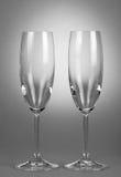 Twee lege wijnglazen Royalty-vrije Stock Fotografie