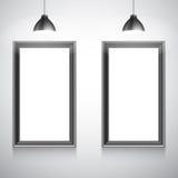 Twee Lege Witte Affichemalplaatjes Stock Afbeelding