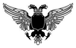 Twee leidden adelaarswapenschild Stock Afbeeldingen
