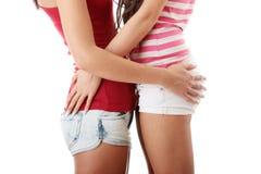 Twee lesbische vrouwen Stock Foto's