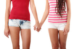 Twee lesbische vrouwen Royalty-vrije Stock Afbeelding