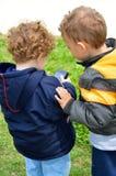 Twee leuke jonge geitjes Royalty-vrije Stock Foto