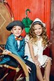 Twee leuke kinderen royalty-vrije stock afbeelding