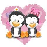 Twee leuke Pinguïnen vector illustratie