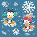 Twee leuke Pinguïnen stock illustratie