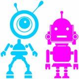 Twee leuke robots, meisje en kerel Royalty-vrije Stock Fotografie