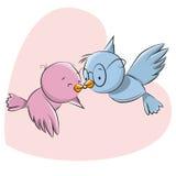 Twee leuke vogels stock illustratie