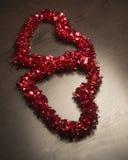 Twee lezen Valentine Hearts Royalty-vrije Stock Foto