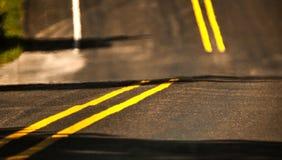 Twee Lijnen van de Steegweg Stock Afbeelding
