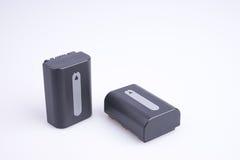 Twee lithiumbatterijen Stock Afbeeldingen