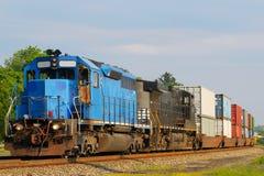 Twee locomotieven Royalty-vrije Stock Foto's