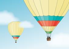 Twee luchtballons in de hemel Royalty-vrije Stock Fotografie