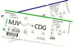 Twee luchtvaartlijn instapkaarten vector illustratie