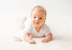 Twee maanden oud baby Stock Foto