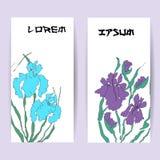 Twee malplaatjes van verticale banners Stock Fotografie