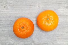 Twee mandarijnen Stock Afbeelding