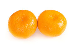Twee mandarins Stock Afbeeldingen