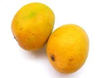 Twee mango's royalty-vrije stock afbeeldingen