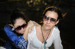 Twee maniervrouwen Royalty-vrije Stock Foto's