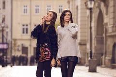 Twee mannequins het stellen Royalty-vrije Stock Fotografie
