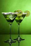 Zure groene cocktails Royalty-vrije Stock Foto