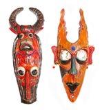 Twee maskers Royalty-vrije Stock Foto's