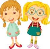 Twee Meisjes royalty-vrije illustratie