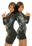 Twee meisjes Royalty-vrije Stock Afbeeldingen