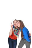 Twee meisjes royalty-vrije stock fotografie
