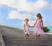 Twee meisjes Stock Foto's