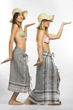 Twee meisjes in de Egyptische stijl Royalty-vrije Stock Fotografie