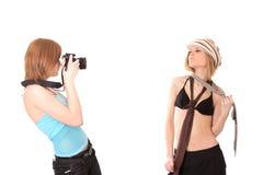 Twee meisjes die pret hebben Stock Afbeeldingen