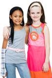Twee Meisjes die zich verenigen Stock Fotografie