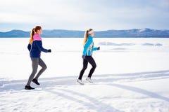 Twee meisjes het aanstoten Stock Fotografie