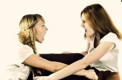 Twee meisjes het debatteren Royalty-vrije Stock Fotografie
