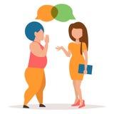 Twee meisjes het roddelen stock illustratie