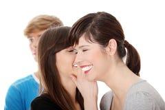 Twee meisjes het spreken Royalty-vrije Stock Afbeeldingen